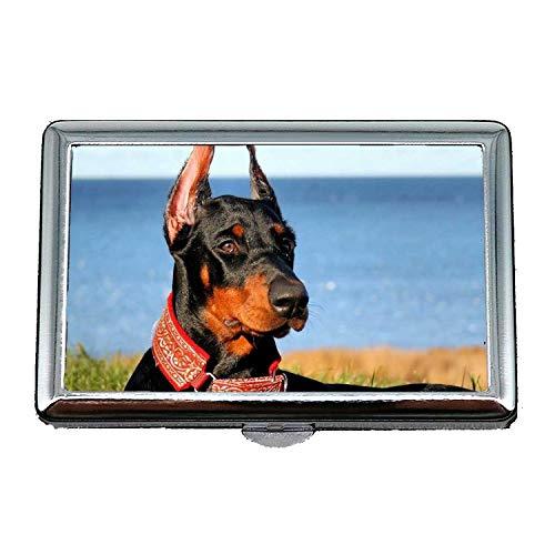 Zigarettenetui/Box, niedliche Mops Hund Gefahr Hund, Kredit Visitenkartenhalter Fall Aufbewahrungsbox