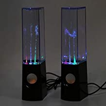 2 Pcs LED Water Dancing Bluetooth Speakers Music Fountain USB Rechargeable Decor
