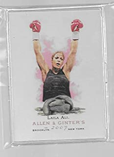 Laila Ali 2007 Topps Allen & Ginter Boxing Trading Card #309 - (SP) SHORT PRINT - Boxing Champion - Stored in a Protective Plastic Display Case!!