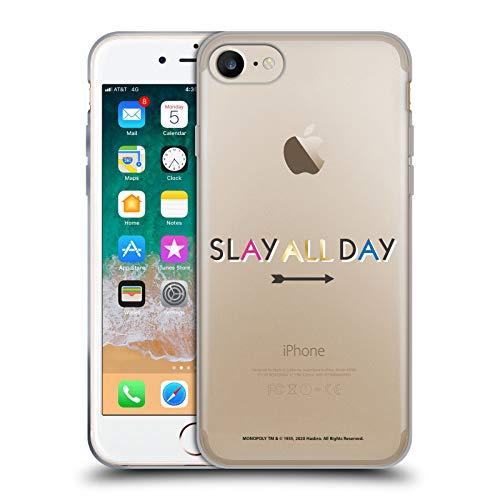 Head Case Designs Oficial Monopoly Game Matar Todo el día Gráficos Carcasa de Gel de Silicona Compatible con Apple iPhone 7 / iPhone 8 / iPhone SE 2020