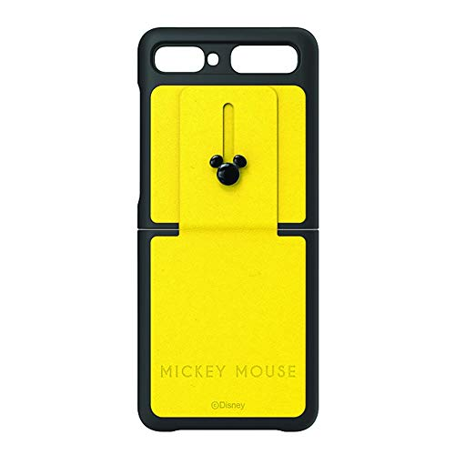 Mickey Mouse Edition Genuine Leather Shell Protective Cover Case for Samsung Galaxy Z Flip (SM-F700) (Yellow)