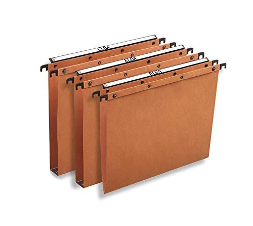 Elba 100330327 - Cartelle Sospese per Cassetto, 25 pezzi, Interasse 39.8, Fondo V, , Arancione