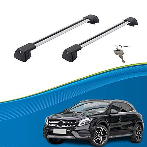 DLDL Ajuste Personalizado para GLA Barras De Carga Barras De Techo Baca Portaequipajes Barras Portaequipajes De Coche para GLA 2015-2020 (Color : Silver-B, Size : For Mercedes Benz GLA 2015)