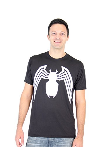Spider-Man Venom Legs Adult Black Performance T-Shirt (Adult XX-Large)