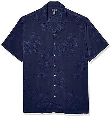 Van Heusen Men's Big & Tall Big Air Tropical Short Sleeve Button Down Shirt, Barge, Large Tall
