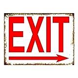 Exit Right Arrow Cartel de chapa vintage, cartel de cartel de metal, placa de pintura de hierro...