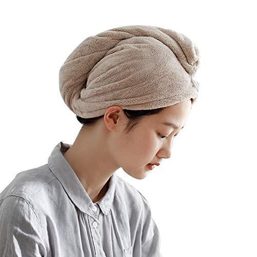WFF Hut 2 Pack Bad Haar Handtuch, magisches Haar trocken Handtuch, super saugfähiges...