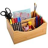 Gräfenstayn®organizador con 4 compartimentos de bambú para el escritorio (12...