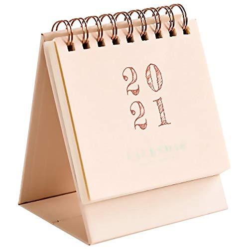 Calendario de escritorio Calendario de escritorio de doble horario diario Tabla Planificador anual del orden del día Oficina Organizador 2020-2021 Mini calendario de escritorio calendario de escritori