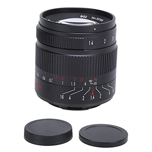 Obiettivo per Fotocamera 55 Mm F1.4 II EOS.M Attacco APS‑C Obiettivo per Fotocamera per Serie di Fotocamere EOS M5 M6 M6II per Spazzare le Strade, Ritratti Obiettivo per Visione Notturna Accessori per