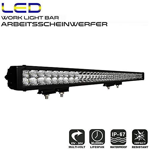 """AFTERPARTZ D4 LED Arbeitsscheinwerfer Bar Neue Reflektor-Lichtschale OSRAM Chips 34000LM Combo Scheinwerfer Arbeitslicht (50\"""" D5)"""