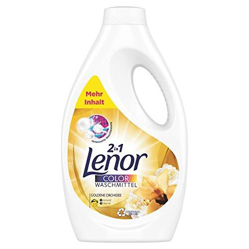 Lenor Waschmittel Flüssig, Flüssigwaschmittel, Lenor Goldene Orchidee, Waschmittel Color, 25 Waschladungen (1.375 L)