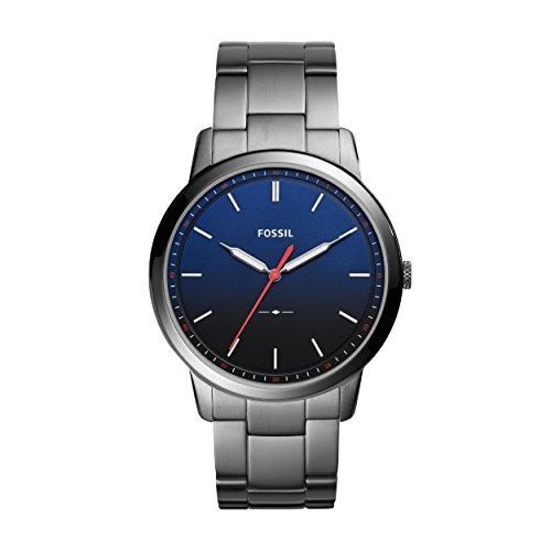 Fossil Herren Analog Quarz Uhr mit Edelstahl Armband FS5377