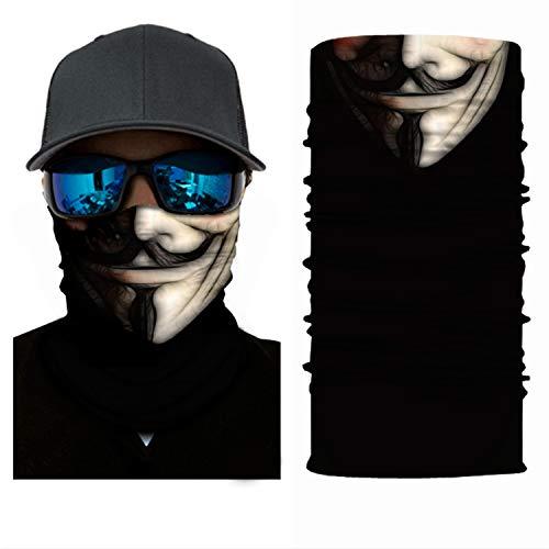 ADKO Bandana Anonymous Mask V for Vendetta Mask for Kids Scarf Horrible Punisher Face Mask Joker Neck Gaiter Headwear Head Band Wears