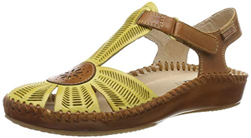 Sandalias amarillas estilo casual Mujer