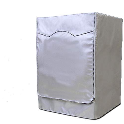 anaoo Abdeckung für Waschmaschinen Wärmepumpentrockner, Abdeckung für Frontlader Waschmaschine und Trockner, 55 * 60 * 85 CM, Wasserdicht, Staubdicht, UV-Schutz, Anti-Aging