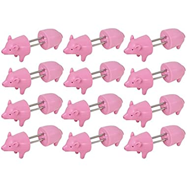Cobble Creek, Piggy Corn Holders - 12 Pairs Of Pig Shaped Corn Cob Holders