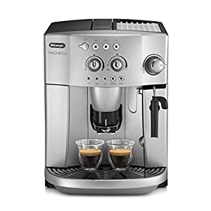 De'longhi Magnifica Esam 4200.S – Cafetera superautomática, 1450w, sistema cappuccino, capacidad 1,8l, 15 bares presión, plateado