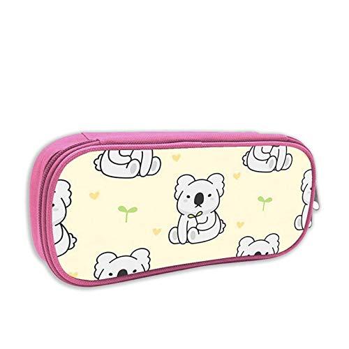 Lindo bolso para bolígrafos Koala Estuche para lápices práctico y duradero Estuche para lápices con cremallera Estuche para lápices para niñas, niños, hombres, mujeres, QA6