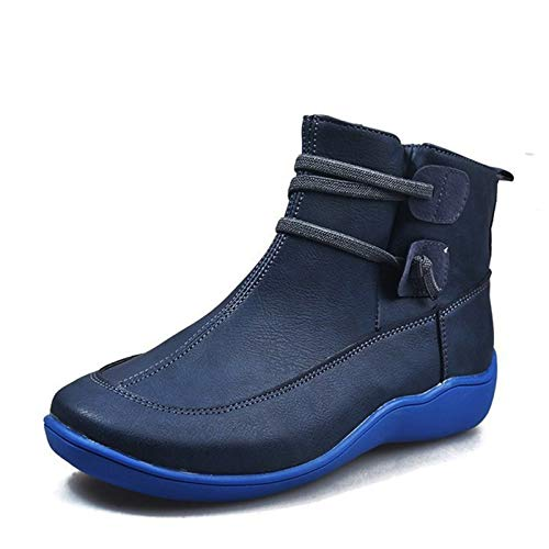 Jishu Ankle Boots Suede Leather Women Flat Platform Short Boots Ladies Shoes Fashion Autumn Winter Boots
