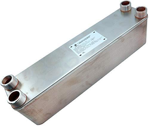 """Edelstahl Wärmetauscher Plattenwärmetauscher NORDIC TEC Ba-60-30, 330kW, 30 platten, 5/4"""""""