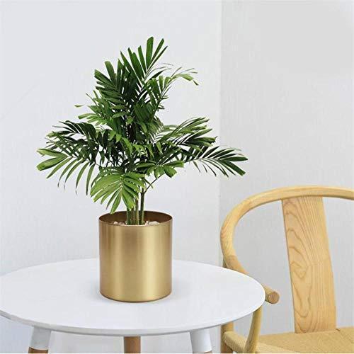 CTOBB Pot de Fleurs en métal cylindrique Simple Pot de Fleurs en Bambou pour décoration de Maison de Jardin intérieur extérieur Pots de Fleurs a