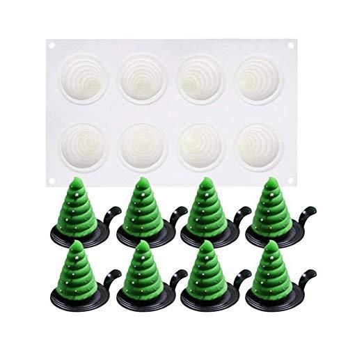 Weihnachtsbaum Silikonform Tannenbaum Backform für Muffin Brownie Cupcake Weihnachtsgebäck Weihnachten Kuchen Silikonbackform Wachsform
