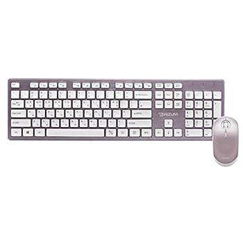 RIZUM M10 Wireless Keyboard Silent Mouse Set Purple Gaming Keyboard Korean/English for Gaming Working or Primer Gaming,Office Device Product of Korea