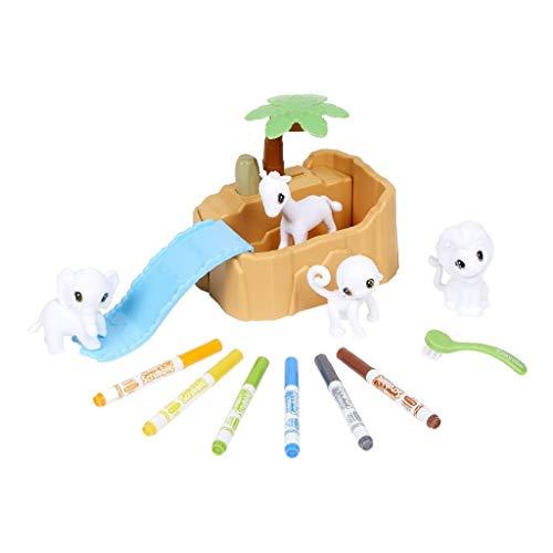 74-7328 Oasis-Piscina con Cuatro Cachorros Crayola- para Colorear y darles un Buen baño a los Cachorros, Ideal para Juego y Regalo, Desde 3 años