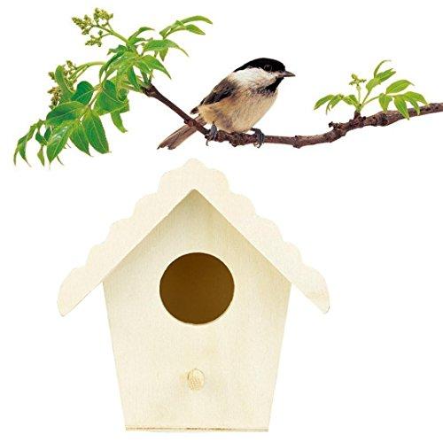 VENMO Neues Nest DOX Nest Haus Vogelhaus Vogel Box Vogel Box Holzbox Vogelhaus mit Ständer Vogelhäuschen aus Holz als Vogelfutterhaus für schicke Vogelfutterstelle