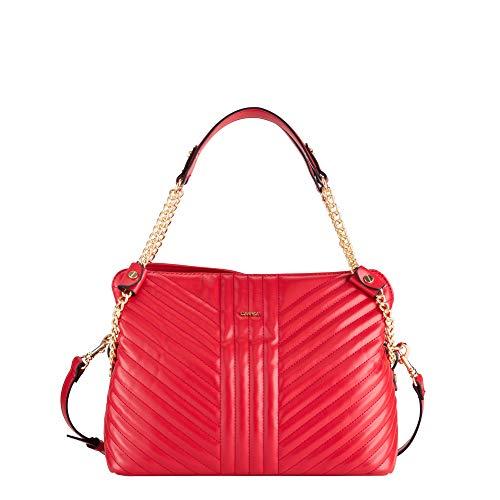 CARPISA® Damen Handtasche - Chain, Rot One size