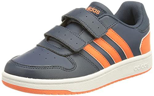 adidas Hoops 2.0 CMF, Basketball Shoe, Crew Navy/True Orange/Cloud White, 31 EU