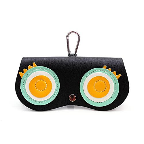Elegante soporte deslizante para anteojos, estuche para anteojos Estuche para anteojos con dibujos animados, estuche de cuero para anteojos con clip de bolsillo con clip para viajes, compras (I-1)
