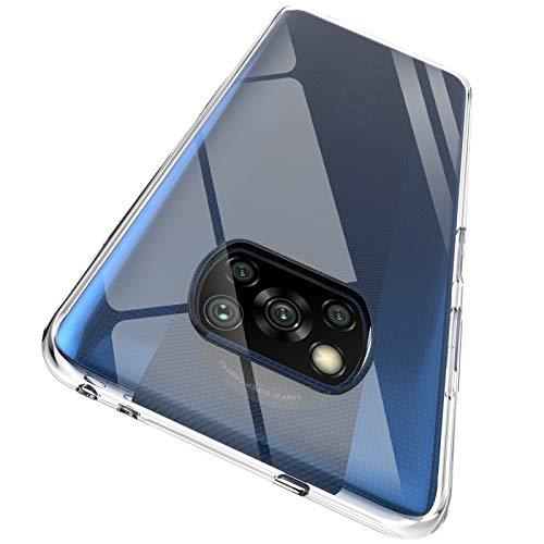 "ORNARTO Durchsichtig Kompatibel mit Xiaomi Poco X3 NFC Hülle, Transparent TPU Flexible Silikon Handyhülle Schutzhülle Case für Xiaomi Poco X3 NFC(2020) 6,67""-Klar"