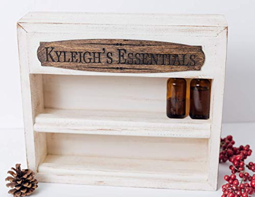 Essential Oil Storage Rack, Personalized with Plaque