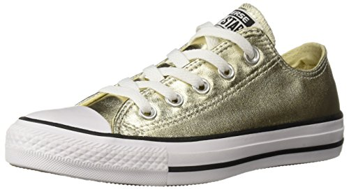 Converse Unisex Chuck Taylor All Star Ox Low Top Classic LIGHT GOLD WHITE BLACK Sneakers - 12 D(M) US