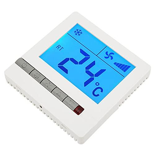 Shipenophy Compresor de retardo, termostato de Aire Acondicionado, termostato Digital LCD antiinterferencias para válvula eléctrica para válvula de Aire accionada por energía