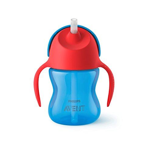 Philips SCF796/01 Tazza con Cannuccia, 200 ml, Rosso/Blu