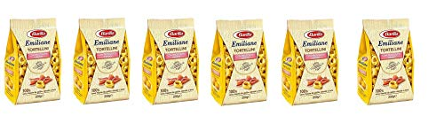 6x Barilla Emiliane Tortellini all'uovo mit rohem Schinken Nudeln mit ei 250g