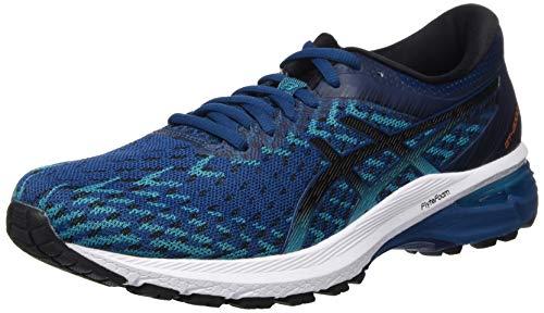 ASICS Herren GT-2000 8 Knit Road Running Shoe, Mako Blau/Schwarz, 42 EU
