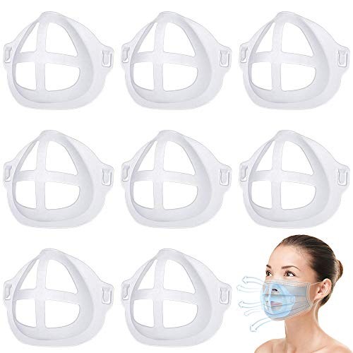 3D Mask Backet Cool Lipstick Protection Stand Face Mask Inner Support Frame Homemade Cloth Mouth and Nose Protection Lipstick Increase Breathing Space Help Breathe Smoothly(8)