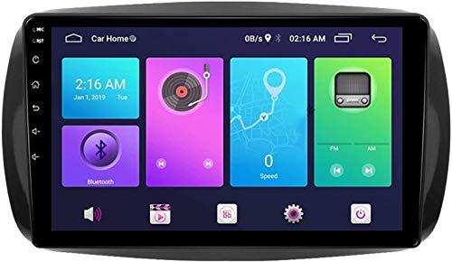 Android 9.0 Coche GPS de navegación Cabeza de navegación RDS Estéreo Multimedia Player Radio con 360 ° Vista general inversa, para Medsas Benz Smart Fortwo 2015-2018,S3
