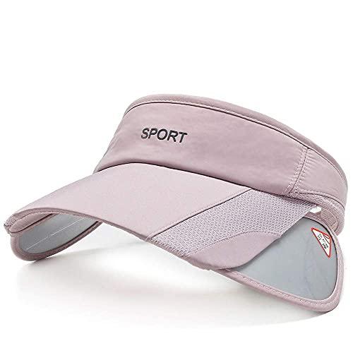 Men Women Sun Protection Sports Visor Hats Summer Wide Brim Adjustable Golf Tennis Pink