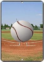 野球ボールスタイル3おかしい引用アルミニウムメタルサイン