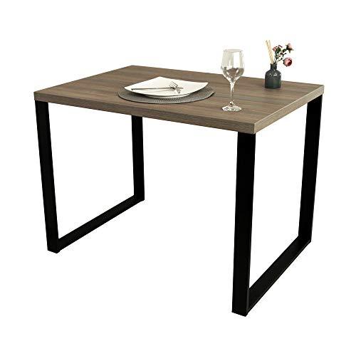 POKAR Tavolo da Pranzo Tavolo da Cucina Tavolo da Pranzo Solido con Gambe in Metallo Nero 100 x 70...