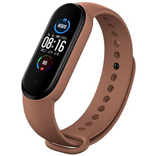 Tokdis Smart Band 2.3 – Fitness Band, 1.1-inch Color Display, USB Charging, 3 Days Battery Life, Activity Tracker, Men's and Women's Health Tracking, Brown Strap (Brown)