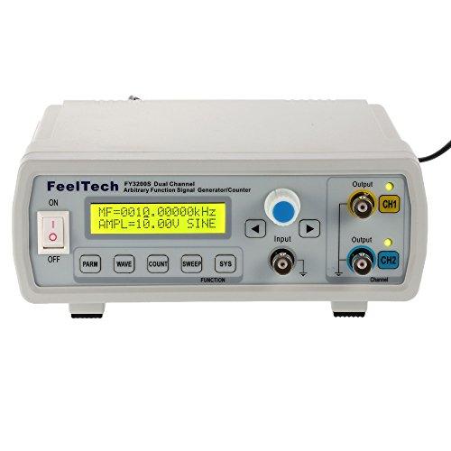 KKmoon 250MSa/s 6MHz Señal Fuente Generador Alta Precisión Digital Dds Canal Dual Función Arbitraria Onda/Pulso Frecuencia Metro 12Bits Seno Onda