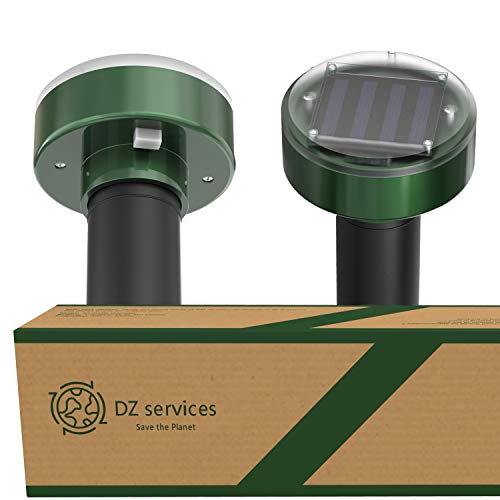 Pack of 4, Solar Mole Repellent Sonic Device, Sonic Mole Repeller, get rid of moles, gopher, snake, rat, mice, mouse, camping, RV, Mole Remover, Mole Repellent Solar Powered, Vole Repellant