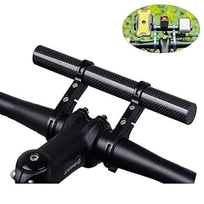 Homeet Fahrrad Extender Fahrradlenker Halterung aus Kohlefaser 20CM Taschenlampe Halterungen Extension Mount Halter, für Fahrrad LED-Licht, Tacho, GPS, Sport Kamera oder Telefon