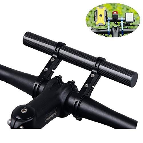 Homeet 20CM Fahrrad Lenker Extender aus Kohlefaser Fahrrad Halterung Halterungen Extension Mount Halter, für Taschenlampe, LED-Licht, Tacho, GPS, Sport Kamera oder Telefon